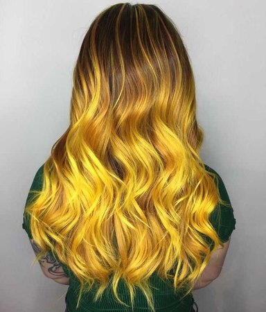 Ombre Yellow Hair