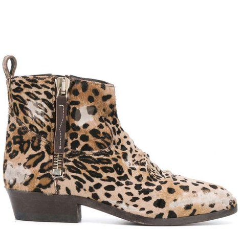 Viand leopard print boots