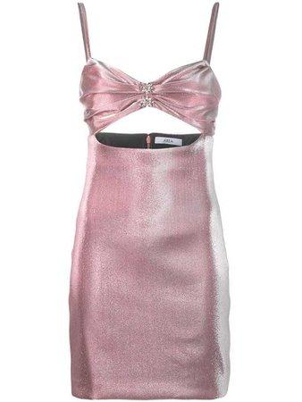 AREA cut out mini dress - Pink