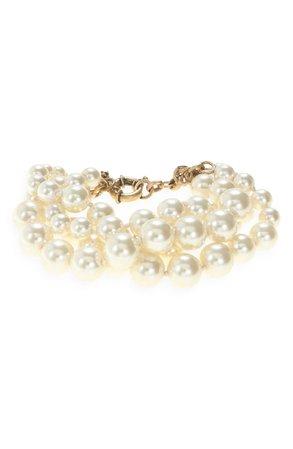 J.Crew Imitation Pearl Twisted Hammock Bracelet