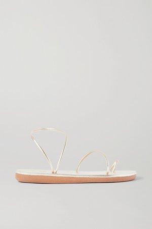 Kansiz Metallic Leather Sandals - Gold