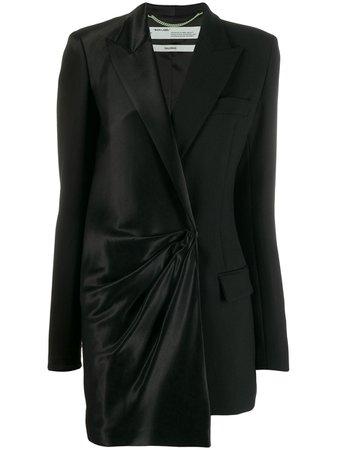Black Off-White Bi-Material Blazer Dress | Farfetch.com