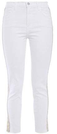 Alana Grosgrain-trimmed High-rise Skinny Jeans