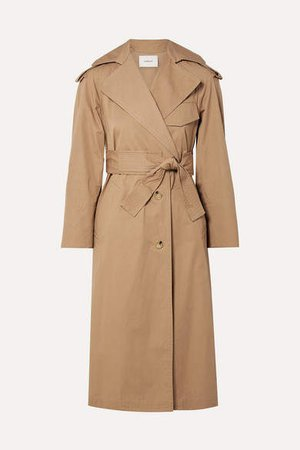 Cotton-canvas Trench Coat - Sand