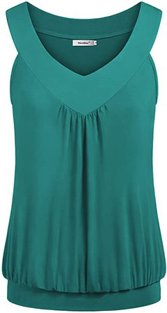 Sixother Womens Tank Tops V Neck Tops Cami Shirts Peated Flowy Tunics for Summer at Amazon Women's Clothing store