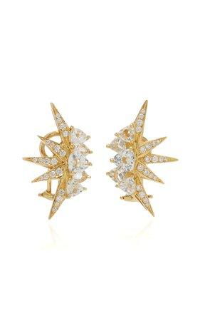 Electra Mini 18k Yellow Gold Topaz, Diamond Earrings By Carol Kauffmann | Moda Operandi