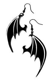 Dragon Wing Gothic Earrings by Curiology