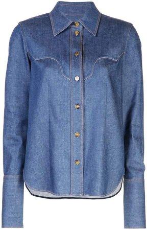 Khaite denim button shirt