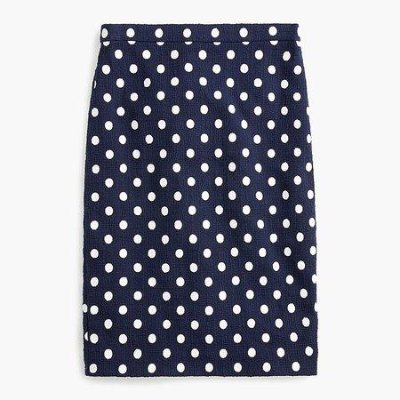 J.Crew: Pencil Skirt In Polka-dot Textured Tweed
