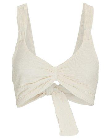 Savannah Morrow The Label Calla Organic Cotton Crop Top | INTERMIX®