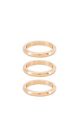 Ettika Three Ring Set in Gold | REVOLVE