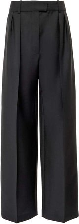 Valentino Straight-Leg Mohair-Wool Pants
