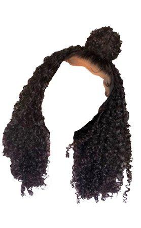 Curly Half Up Half Down W/ Bun