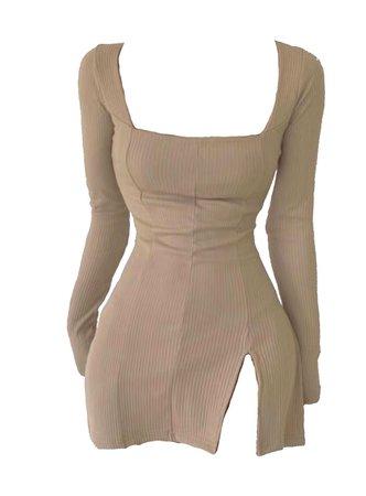 tan mini dress