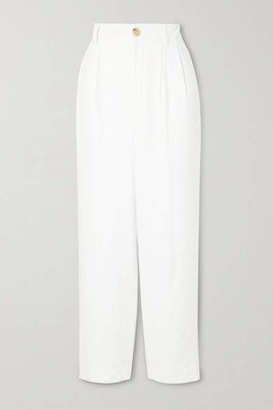 Tapered Twill Pants - White