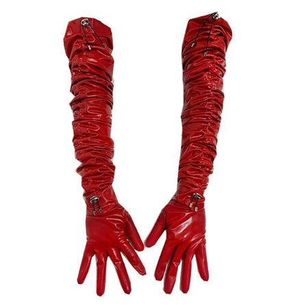 red over the elbow gloves latex - Buscar con Google