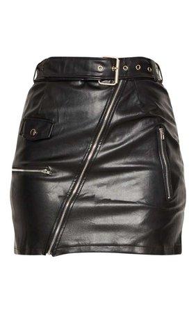 Stone Biker Belted Mini Skirt | Skirts | PrettyLittleThing