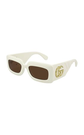 Square-Frame Acetate Sunglasses By Gucci | Moda Operandi