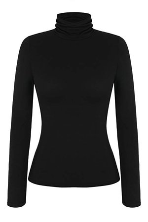 Zeagoo Women's Basic Slim Fit Long Sleeve Turtleneck T-Shirt Top and Blouse at Amazon Women's Clothing store: