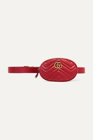 Red GG Marmont quilted leather belt bag | Gucci | NET-A-PORTER