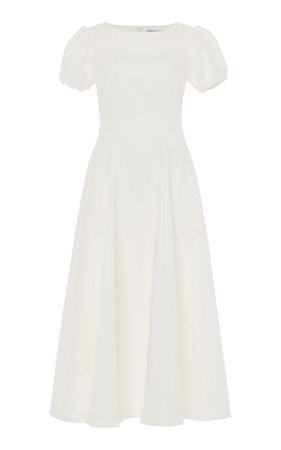Stretch Cotton-Blend Midi Dress by Luisa Beccaria | Moda Operandi