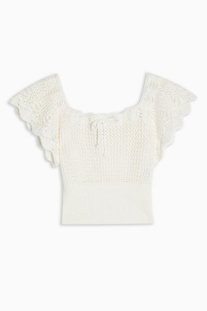 Ivory Stitch Knitted Top | Topshop