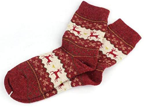 Amazon.com: Hot ! Wool Socks, Ninasill Christmas Deer Design Casual Knit Wool Socks Warm Winter Mens Women (Free Size, C): Home & Kitchen