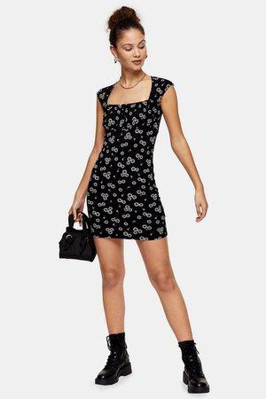 Black And White Neck Bodycon Dress | Topshop