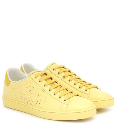 Gucci - New Ace leather sneakers   Mytheresa
