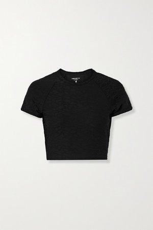 TWENTY Montréal | Connect 3D cropped stretch jacquard-knit T-shirt | NET-A-PORTER.COM