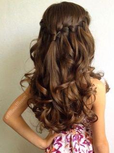 kapsels-vlechten-haar | Communiekapsels | Braided ponytail hairstyles, Long hair styles, Hair styles