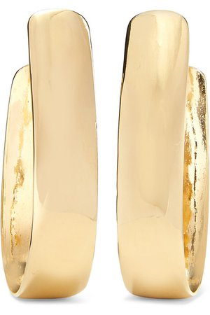 Jennifer Fisher | Bolden gold-plated hoop earrings | NET-A-PORTER.COM