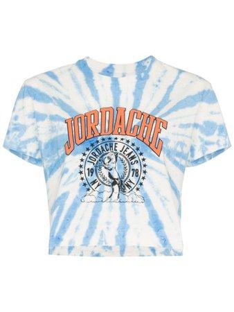 Jordache Cropped Tie-Dye T-Shirt 1051BLUELAGOONWASH Blue | Farfetch