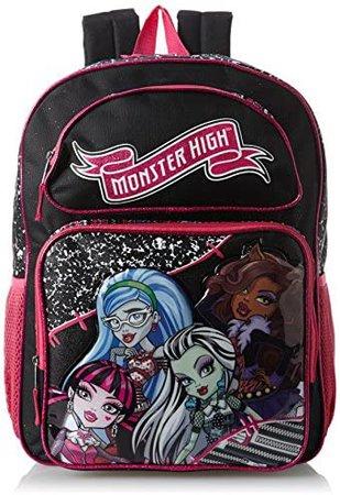 Amazon.com | Monster High Big Girls' Ghouls Backpack, Multi, One Size | Kids' Backpacks