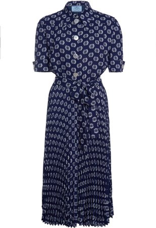 Printed Short Sleeved Dress