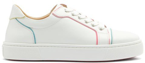 Vierissima Painted-edge Leather Trainers - White Multi