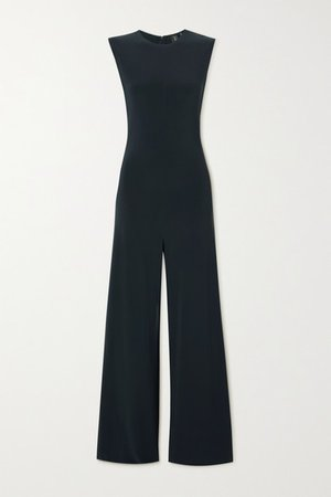 Stretch-jersey Jumpsuit - Blue