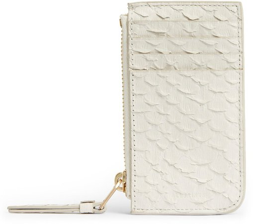 Marlborough Snake Embossed Leather Zip Wallet