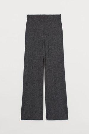 Wide-cut Jersey Pants - Gray