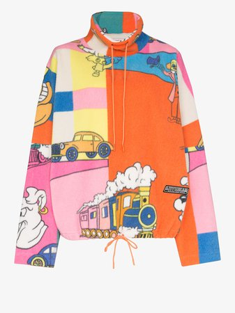 Martine Rose Batwing sleeve printed sweatshirt | Browns