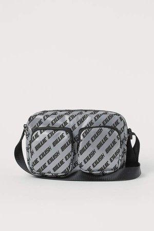 Reflective Shoulder Bag - Gray
