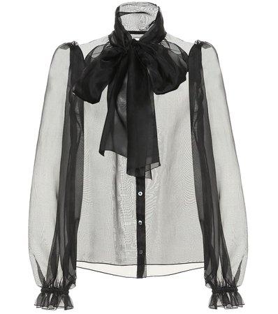 Dolce & Gabbana - Silk-organza blouse   Mytheresa