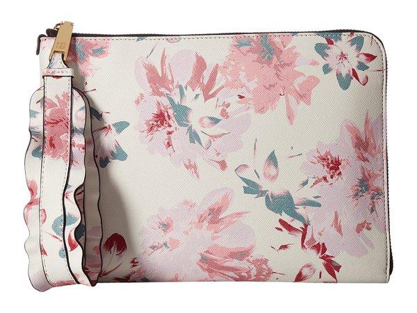 Ivanka Trump - Rio Tech Sleeve (Floral Faded Lillies) Clutch Handbags