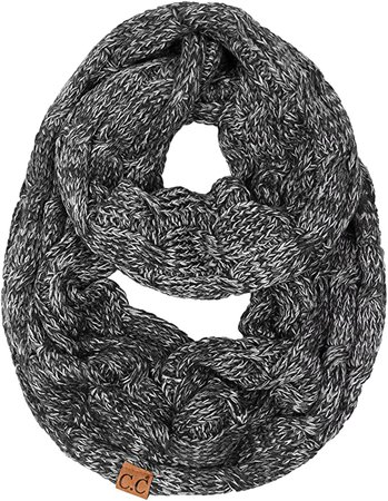 S1-6033-67 Funky Junque Infinity Scarf - Oatmeal (Confetti) at Amazon Women's Clothing store