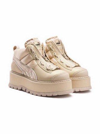 Fenty by Puma Strap Sneaker Boot in Nude