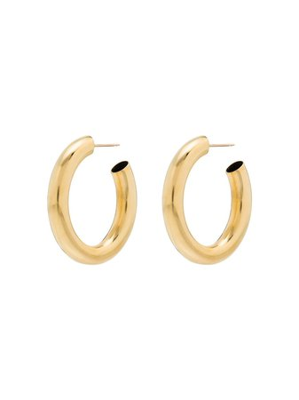 Laura Lombardi Mini Curve Hoop Earrings Aw20 | Farfetch.Com