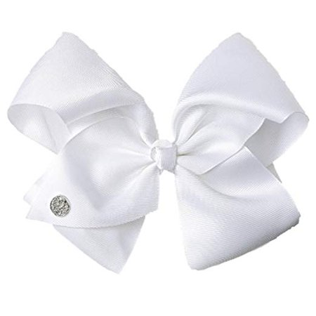 Amazon.com : JoJo Siwa Large White Signature Hair Bow Dance Hair Bow Cheerleader Bow : Beauty