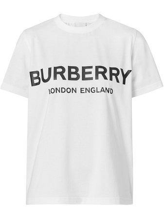 Burberry Logo Print T-shirt - Farfetch