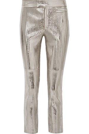 Isabel Marant | Novida metallic striped leather skinny pants | NET-A-PORTER.COM