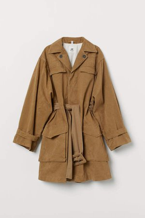 Cotton Canvas Coat - Beige